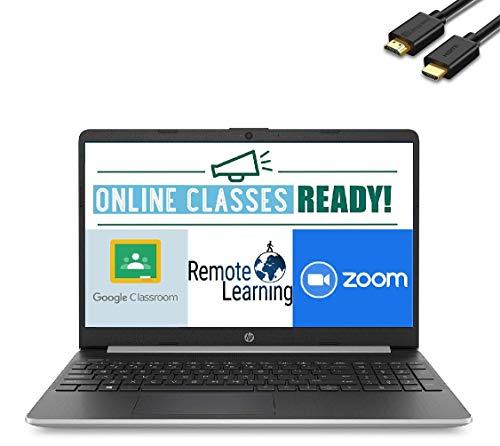 2020 Newest HP 15 15.6' HD Micro-Edge Business Laptop (10th Gen Intel Core i5-1035G1, 8GB DDR4 RAM, 256GB PCIe M.2 SSD) USB Type-C, HDMI, HD Webcam, Windows 10 Home Silver + IST HDMI Cable