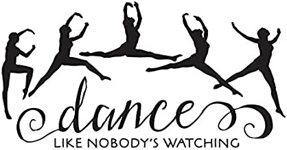 Vinyl Decal Sticker for Computer Wall Car Mac Macbook and More - Dance Like Nobody's Watching
