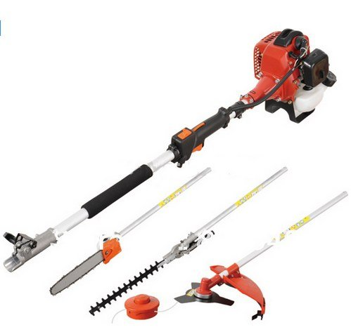 GOWE Professional Multifunctional 40-5 Engine 5 in 1 Petrol Hedge Trimmer Chainsaw Strimmer Brush Cutter Extender Garden Tool on Sale