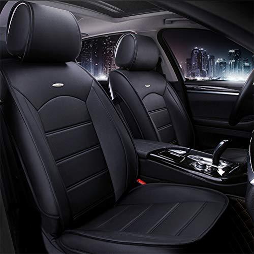 Qiaodi Juego de 2 fundas de piel para asientos delanteros de coche para Citroen C2, C3, C4, C5, C6, DS3, DS4, DS5, Berlingo C4, cactus C5 Tourer, compatible con airbag (negro)