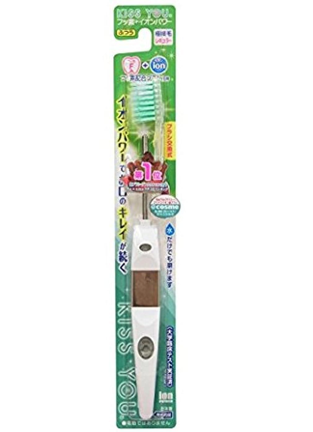 一晩それに応じて聴衆フッ素イオン歯ブラシ極細レギュラー本体ふつう × 5個セット