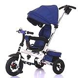 Triciclo for niños, Giro del Asiento de Bicicleta Triciclo for niños Vehículos for niños Inflable Gratuito Edad de Uso: 8 Meses a 5 años A++ ( Color : Dark Blue )