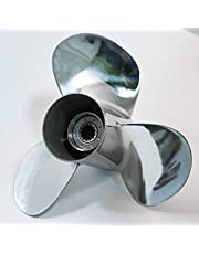 Flish Propeller OEM RVS Buitenboordmotor Propeller fit Yamaha Motoren 25-60HP,13 Tandspline, RH