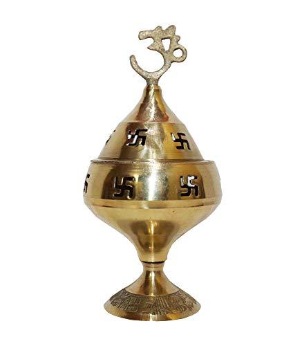 NK GLOBAL Messing Diya 1 Pc Dekorative Öllampe Indische Pooja Artikel Tempel Diwali Dekorationen Traditionelle Om Diya Hindu Home Decor Geschenke