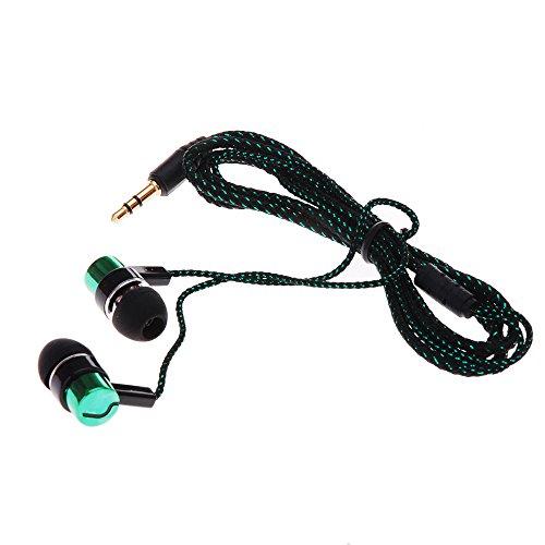 Andoer® 1.1M Reflektierender Fasertuch Linie Geräuschisolierender Stereo MetallerIn-Ear Ohrhörer Ohrstöpsel Kopfhörer mit 3,5mm Klinken Standard