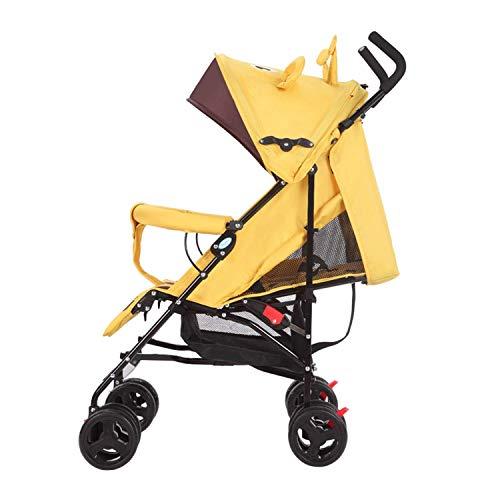 VIVOCC Cochecito Plegable de Peso Ligero Puede Sentarse y Poner la Silla de Paseo Travel System Verano Dreathable Malla for recién Nacidos y niños pequeños