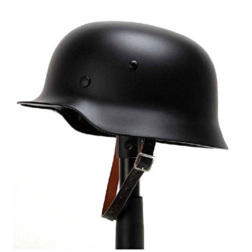 OAREA WW2 - Casco de acero alemán M35 WW II Casco de seguridad de acero de alta resistencia con forro de piel