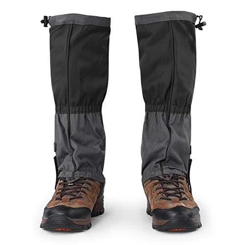 Jenngaoo 1 Paar Outdoor Gamaschen rodeln, Gamaschen Wandern wasserdichte Gamaschen Gaiter für Outdoor-Hosen zum Wandern, Klettern und Schneewandern schneeschutz Schuhe(Schwarz)