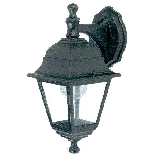 Lanterna A Parete Discendente Struttura In Alluminio. Verniciata Nera. Dimensioni: Cm 14,5X19Xh34. Classe Di Protezione Ip33.