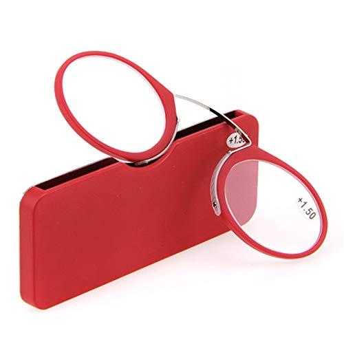 Lesung Brille Kunststoff Titan Frame Tragbare Notfall überall Lesung Brille, Kompakte leichte Mini-Lesebrille/Stärke +1.0 bis +3,5