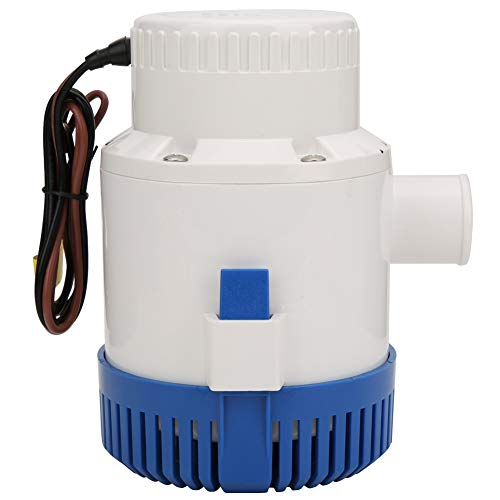 Focket Submersible Boat Bilge Water Pump,24V Yacht Automatic Marine Electric Submersible Bilge Pump,Built-in Float Switch System,for Ponds,Pools,Boat Caravan Rv Submersible
