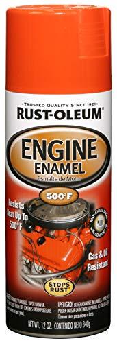 Rust-Oleum 248941 Engine Enamel, Chevy Orange, 12 oz, Spray Automotive Accessories, 12-Ounce