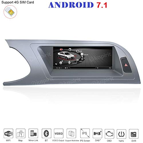 ANDROID 4G LTE GPS USB DAB+ MirrorLink Bluetooth 8.8 pollici 4GB RAM 32GB ROM navigatore compatibile con Audi A4/RS4/8K/B8/8T/4L 2008-2012