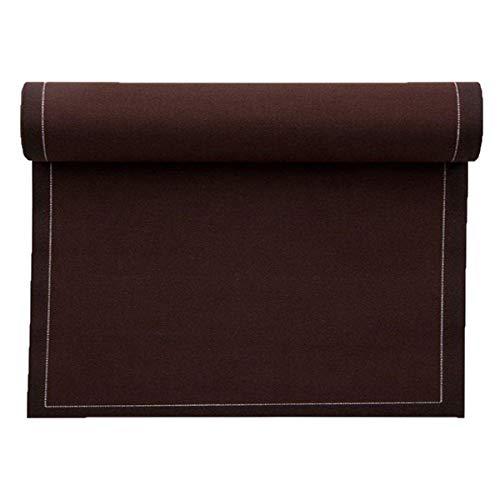 Set de table en coton 48x32cm - Rouleau de 12 sets - Marron Chocolat