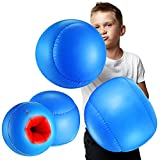 2 Pairs Inflatable Boxing Pillows, Inflatable Boxing Gloves (Blue and Red)