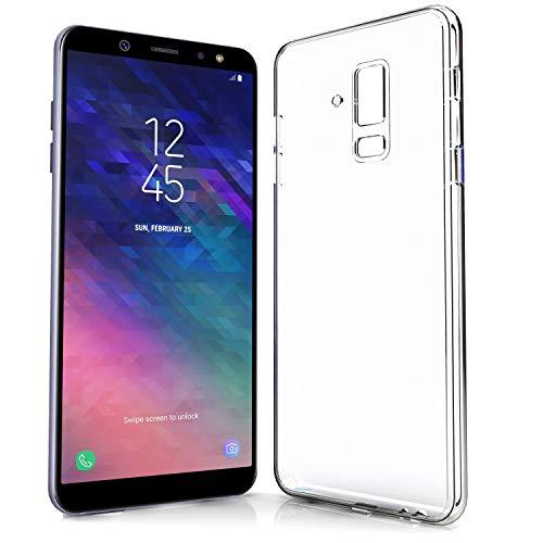 NewTop Cover Compatibile per Samsung Galaxy A6/A6 Plus 2018, Custodia Morbido TPU Clear Silicone Trasparente Slim Case Posteriore (per A6 Plus 2018)