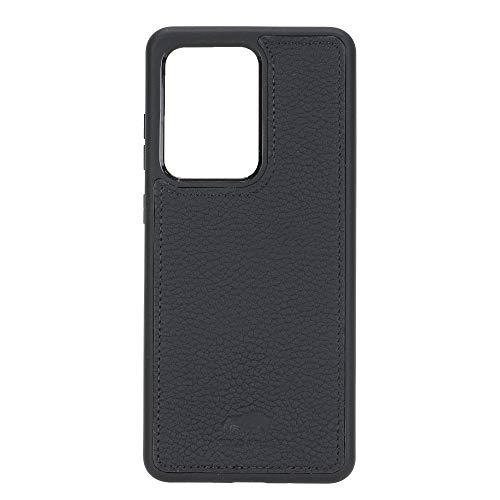 Solo Pelle Lederhülle für das Samsung Galaxy Note20 Ultra 5G | Note 20 Ultra Hülle aus echtem Leder, Model: Stanford (Matt Schwarz)