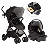 Product Image of the Evenflo Sibby Travel System, Stroller, Car Seat, Ride-Along Board, Oversized...