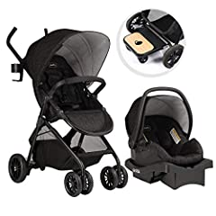 Durable Infant Travel System: The Evenflo Sibby Travel System is the Perfect Stroller for Your Growing Family. It Includes a Stroller, Car Seat, and Ride-Along Board That Work Seamlessly and Require No Special Tools or Accessories for Use. This Strol...