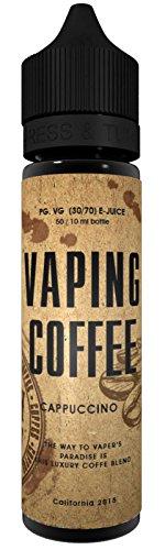 Vovan Liquid - COFFEE Cappuccino 50ML Nikotinfrei Cappuccino Kaffee High VG Premium Shake & Vape Liquid