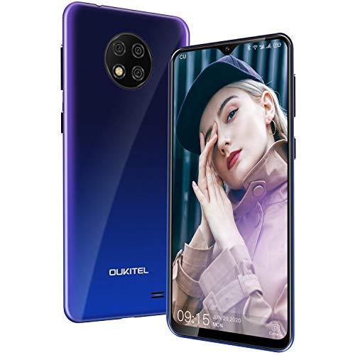 """Cellulari Offerte, OUKITEL C19 Android 10 4G Smartphone,6.49"""" HD+ Goccia D'acqua Schermo,Batteria 4000mAh,13MP Tripla Fotocamera,2GB RAM+16GB ROM 256GB Espandibili Telefonia Mobile (Gradient)"""