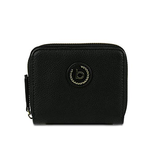 Bugatti Passione Portemonnaie Damen, Geldbörse Damen aus PU mit Reißverschluss - Portmonee Geldbeutel Damengeldbörse – Schwarz