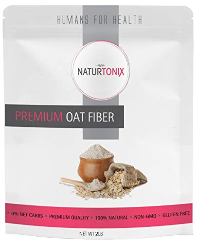 Premium Oat Fiber, Ultra Finely Ground, Non GMO, Vegan, Gluten Free, OU Kosher and Keto Friendly, Made in the USA 2 Pounds