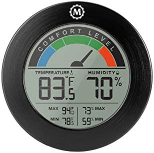 Marathon Comfort Index Thermo Hygrometer Indoor Digital Thermometer Wall Mount or Table Stand product image
