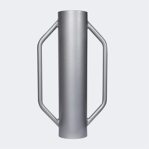 Pilon à Poteau ⌀14cm 13,5kg Acier avec Poignées pour la Construction de clôture & Compactage de Sol