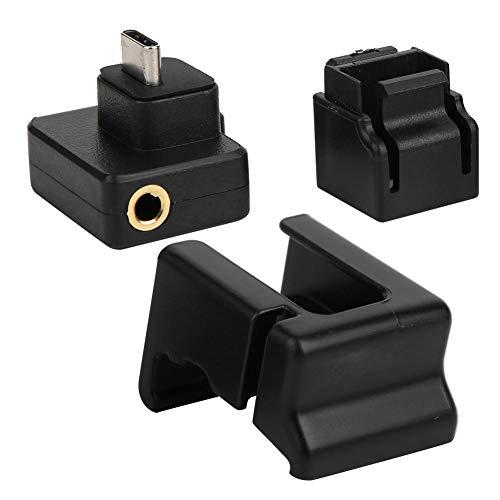 Adattatore Audio da 3,5 mm Microfono a Gabbia per Telecamera di Movimento Mic Adattatore Audio da 3,5 mm per DJI OSMO Action