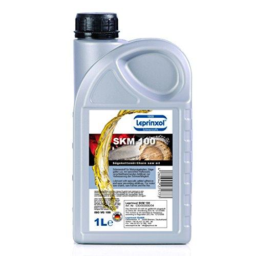 1 LITER KETTENSÄGEÖL VON LEPRINXOL. Das Sägekettenöl, Sägekettenhaftöl, Motorsägenöl SKM 100 mineralisches Hochleistungsöl Norm ISO VG100. Ganzjahres-Einsatz tauglich. Sägen von Hartholz geeignet.