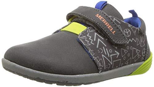 Merrell Kids' Unisex M-Bare Steps Sneaker Sneaker, Grey, 9 Medium US Toddler