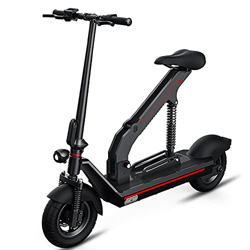 NKOU Double Commuter Electric Scooter with Lithium Battery, Mini Electric 2-wheel Tricycle for Adults, Quadruple Shock Absorption System and Remote Control
