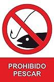 MovilCom® - Señal de aluminio PROHIBIDO PESCAR 300X400mm Señal prohibición (ref.RD41967)