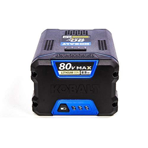 Kobalt 80-volt 2.5-Amp Hours Rechargeable Lithium Ion Cordless Power Equipment Battery KB 2580-06