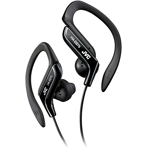 Clip Style Headphone Black Lightweight and Comfortable Ear Clip. Splash Proof Water resistant Powerful Sound with Bass Boost JVC HAEB75B