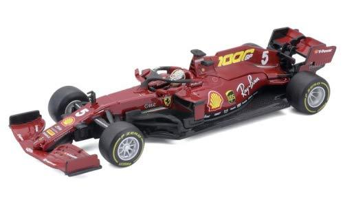 Bburago BBU18-36819VM Ferrari SF1000, No.5, Scuderia Ferrari, Formel 1, GP Toskana, 1000th GP for Ferrari, S.Vettel, 2020, 1:43, Fertigmodell