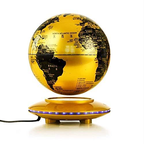 FMOGE Globes World Map 8 Pouces Rotatif Anti-Gravity Magnetic Levitation Globe avec LED Illuminating Desktop Office Home Decoration Creative Gift