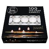 Nanki Trades Wax Tea Light Candle (White, Set of 100)