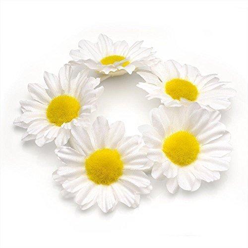 HAIR SCRUNCHIE White Daisy Flower Garland Floral Girls Ladies Festivals