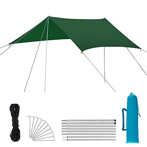 SZSMD Zeltplane Wasserdicht, Hängematten Zelt Tarp,Tarp für Hängematte, Anti-UV, Leichte Tragbare für Camping, Wandern, Outdoor-Aktivitäten