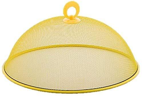 2 cupole per coprire il cibo in rete metallica con manico, facile da pulire, diametro 35 cm