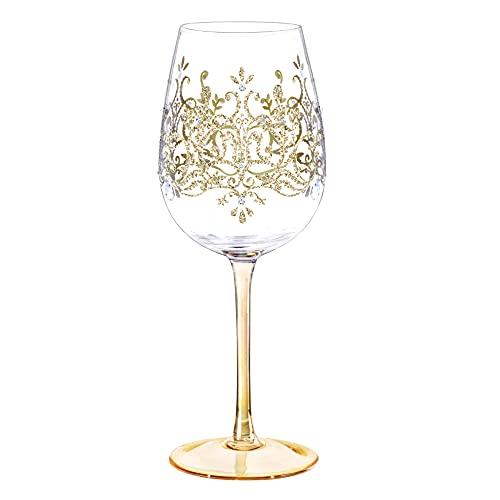 NymphFable 15oz Handgemalt Weingläser Goldene Krone Geschenkideen Personalisierte Geburtstagsgeschenk Für Frauen