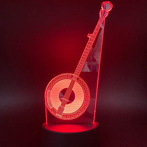 ANYODP Lámpara de mesa mágica LED de luz nocturna creativa 3D -Musica folklórica- 7 tipos de cambio de color - Regalos de navidad, regalos de cumpleaños para niños-GW-16393SC