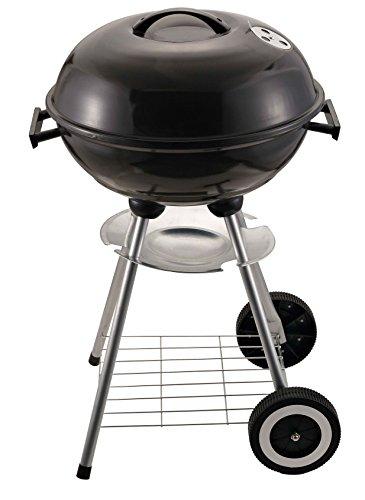 yanka-style Barbecue a Carrello (Barbecue a carbonella/Barbecue con Coperchio/Barbecue Rotondo/Barbecue con Piedi di Sostegno), Nero
