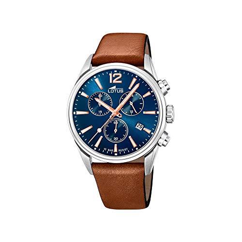 Lotus Herren Chronograph Quarz Uhr mit Leder Armband 18691/2