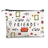 Funny Makeup Bag for Women Friends Tv Lovers - Friends Tv Show Merchandise - Canvas Cosmetic Bag Cotton Zipper Pouch Travel Bag Toiletry Organizer Make-Up Case Storage Pouch for Friends Fans Sister Friend Colleague Mom Birthday Gifts 7.5' X 10'