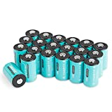 20PCS Shentec CR2 3V Pilas 1000mAh Batería CR2 para Linterna, Cámara Digital, Videocámara, Juguetes, Antorcha No Recargable