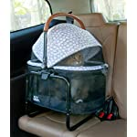 Pet Gear View 360 Pet Stroller Travel System 3-in-1 Carrier, Booster Seat and Stroller with Push Button Entry, Silver Pearl (PG8140NZSP) 15