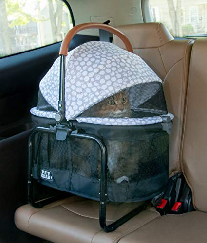Pet Gear View 360 Pet Stroller Travel System 3-in-1 Carrier, Booster Seat and Stroller with Push Button Entry, Silver Pearl (PG8140NZSP) 7